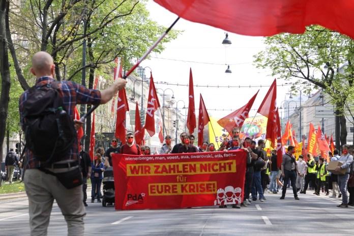 PdA am 1. Mai: Wir zahlen nicht für eureKrise!
