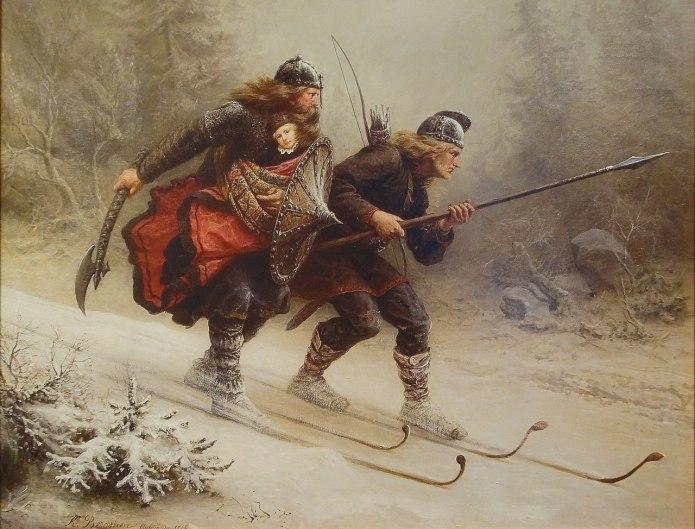 Norwegische Forscher entdecken 1.300 Jahre altenSki