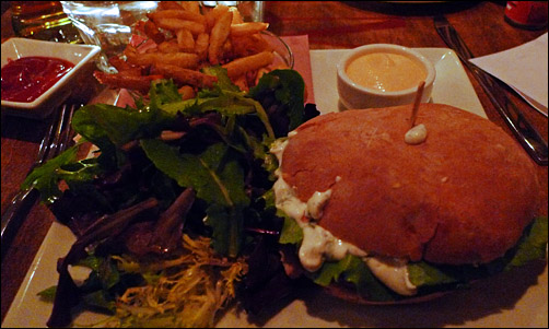 The Burger at Meatmarket, photo by Ed Hawco