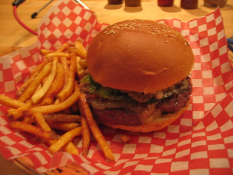 The All-Dressed Burger at Le Jolifou
