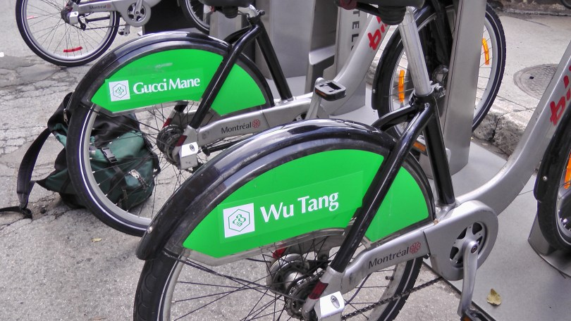 Wu Tang on the back of a Bixi.