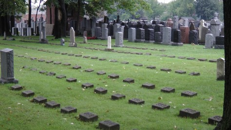 Unmarked Children's Graves at The Baron de Hirsch Cemetery