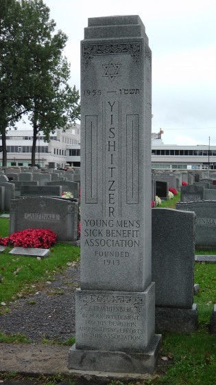 The Young Men's Sick Benefit Association monument at The Baron de Hirsch Cemetery