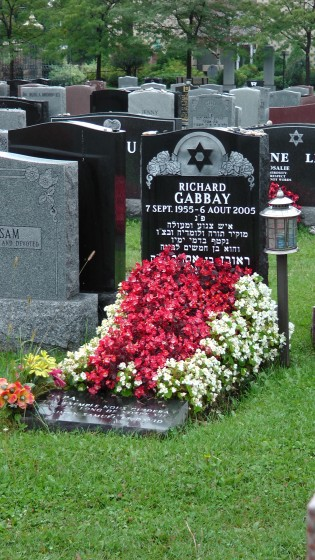 Richard Gabbay's monument at The Baron de Hirsch Cemetery