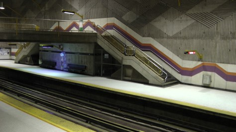 The view across the platform.