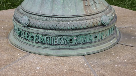 The base of the flagpole for The Monument to the McGill students (and perhaps professors) who died in World War I