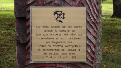 Montreal Totem Pole Plaque