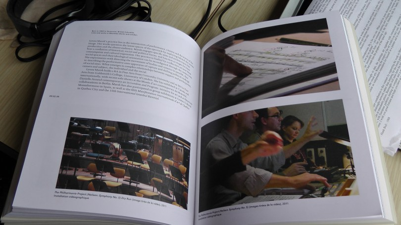 Lynne Marsh, Philharmonie Project (Neilsen: Symphony No. 5) Dry Run (picture taken from the catalogue to the Quebec Triennal 2011)