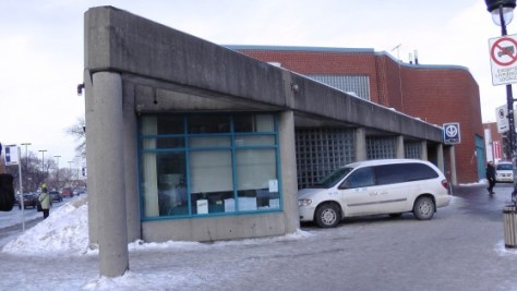 The exterior of the northern entrance.