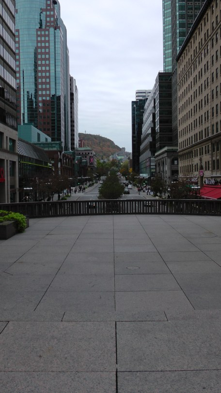 On Axis looking up McGill College.