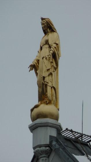 La Vierge dorée by Joseph Lefèvre on Chapelle Notre-Dame-de-Lourdes.