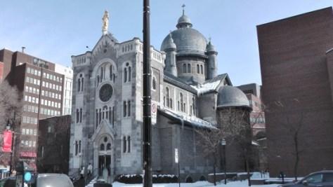 Chapelle Notre-Dame-de-Lourdes de Montréal viewed from the west.