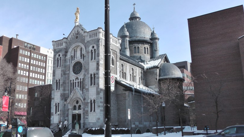 Chapelle Notre-Dame-de-Lourdes de Montréal viewed from the west.