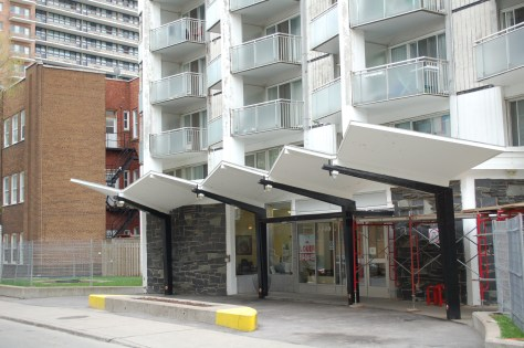 Cool Montreal Apartment Building Awning
