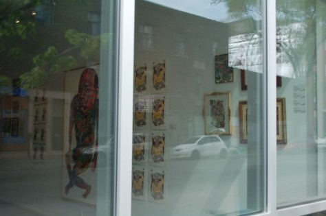 Installation shot from the street of Tempest by Other at Yves Laroche galerie d'art