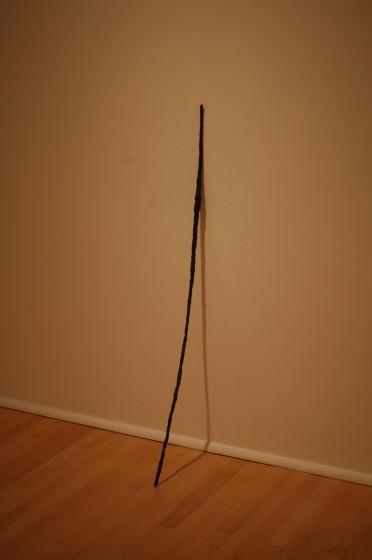 """Jana Sterbak Spare Spine, 1983, Bronze, 60"""" x 1"""" x 1"""""""