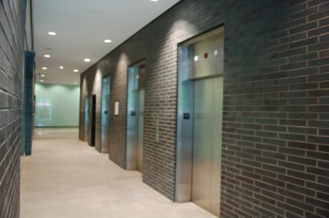 The elevators at Quebecor, 612 Saint Jacques