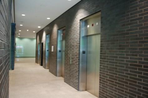 The elevators at Quebecor, 612 Saint Jacques