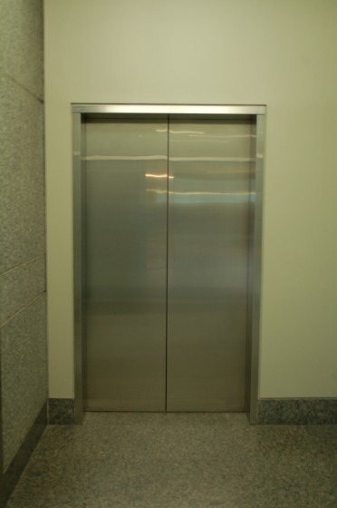An elevator without a call button (extremely rare!)