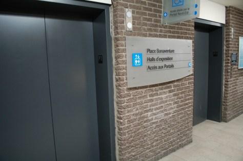 Some elevators at Place Bonaventure
