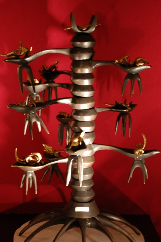 Robert Roussil sculpture The tree of life from the Iegor - Hôtel des Encans auction June 19, 2012. Sold for $12,417.30.