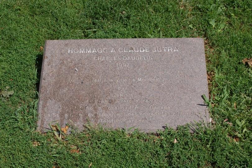 Hommage à Claude Jutra, by Charles Daudelin at Parc Claude-Jutra, Clark and Prince-Arthur