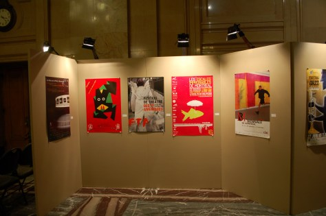 Installation view of the Publicité Sauvage 25½ exhibit 6/15 at City Hall.