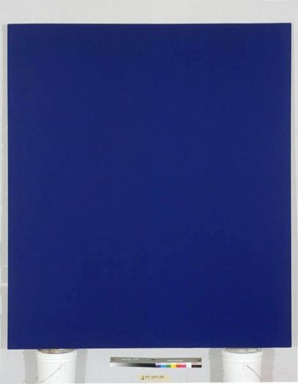 Quantificateur bleu 12, Acrylic on Canvas, 8' x 7', 1994