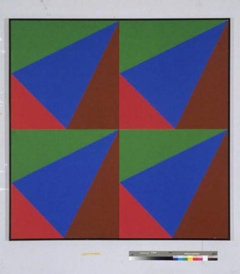 """Sans titre, Acrylic on Canvas, 68"""" x 68"""", 1970/74"""