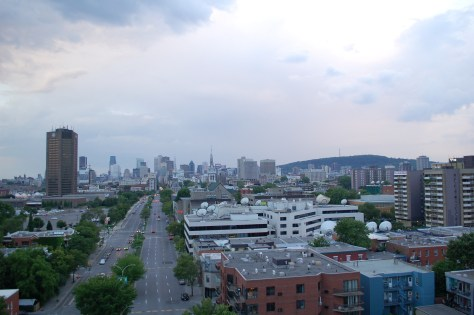 The view from the Jacques Cartier bridge