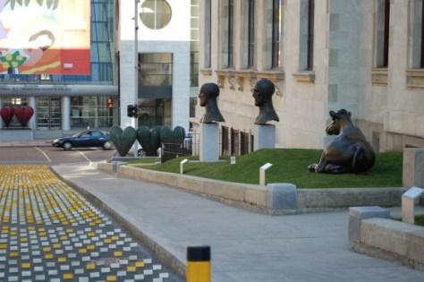 View of the New Sculpture Garden at the Musée des beaux-arts de Montréal
