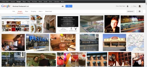 Montreal Restaurants Image Search