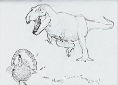 Jurassic Park Thanksgiving Sketch