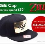 Nintendo Official UK Store offering free Zelda cap with £70 spend