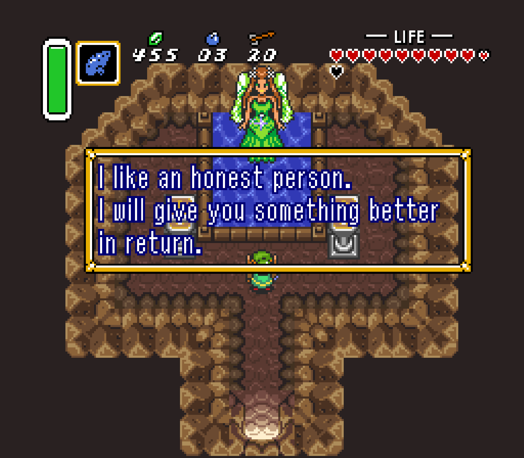 Honesty is the best policy. Weirdly enough, the fairy will reward you for making her do work.