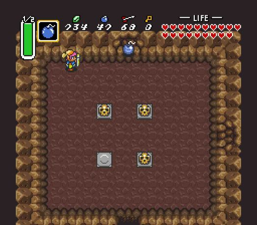 The way north leads to the boss; the way east leads to Rupees.