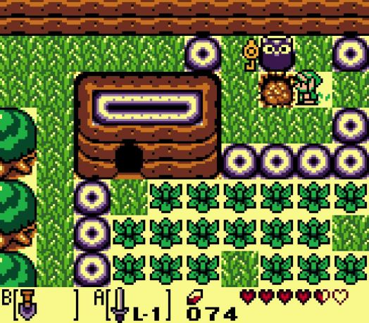 Step Five You'll arrive at a curious looking bush in front of an owl statue. Mow down the bush and then use the Shovel to dig in the exposed soil. You'll uncover the Slime Key that will open up the next dungeon!