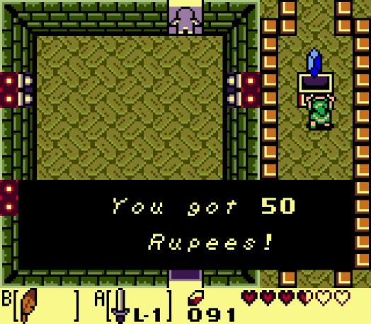 Step Four If you continue northward, defeating all of the enemies will gain you 50 Rupees on the return trip.