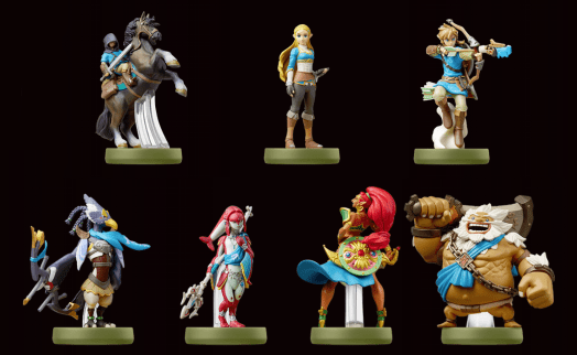 A collection of Breath of the Wild amiibo