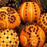 Помандери  з цитрусових – натуральний новорічний декор