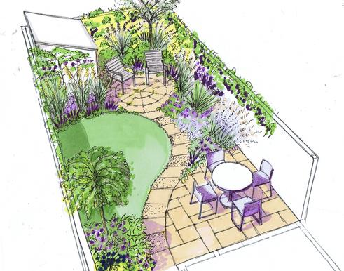 Дизайн подвір'я зображення 2