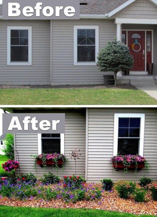 ландшафтний дизайн подвіря картинка 17 до і після