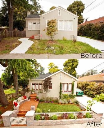 ландшафтний дизайн подвіря картинка 18 до і після