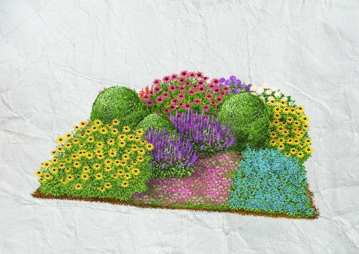 Квітник біля будинку – 7 схем палісадників