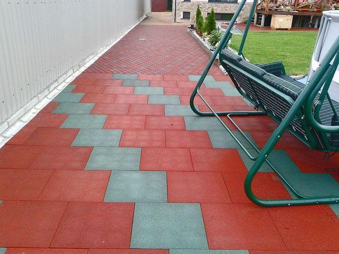 гумове покриття двору