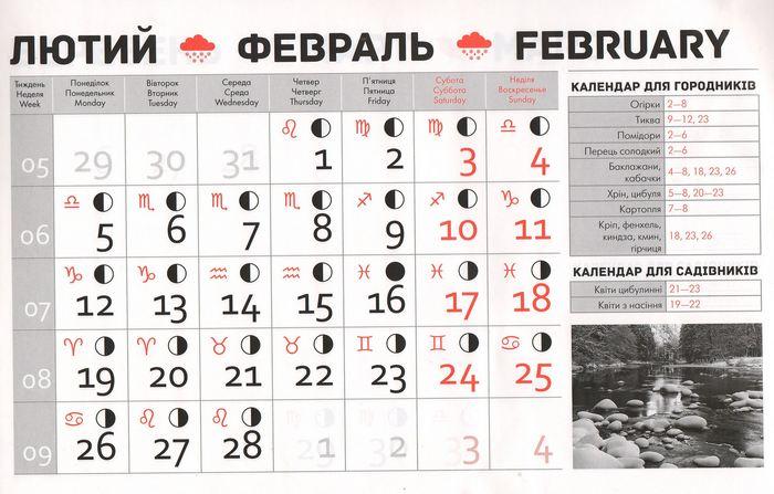 Посівний календар на лютий 2018 року фото