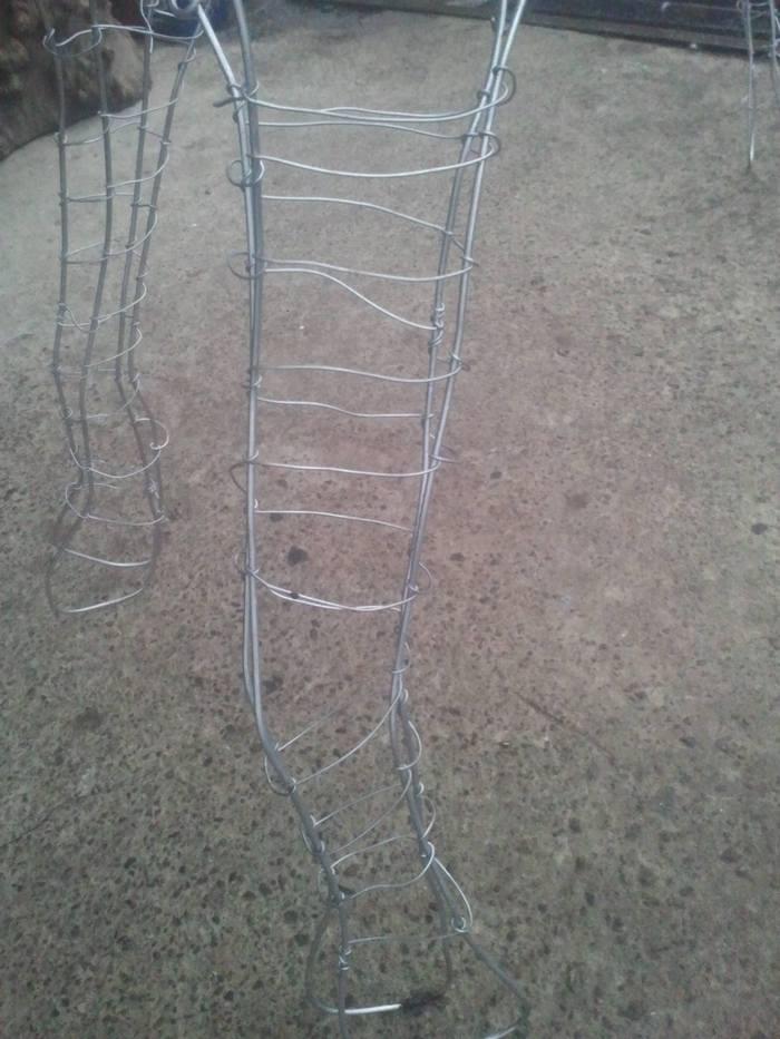 новорічний олень з дроту заготовка фото 3