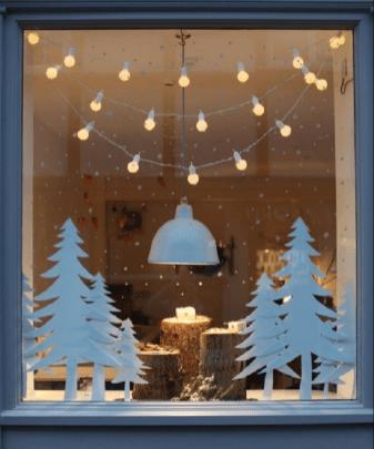 Новорічний декор вікна