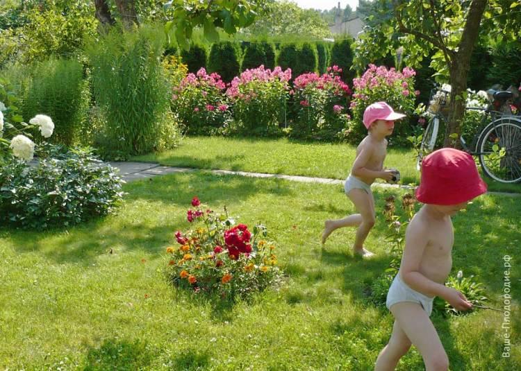 Мої найменші онуки гуляють в садочку