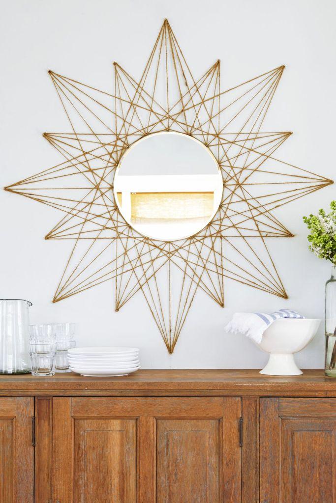 Декор дзеркала із мотузки